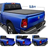 Tyger Auto 5.7 (Soft Top) T3 Tri-Fold Truck Tonneau Cover TG-BC3D1015 Works with 2009-2019 Dodge 1500 (2019 Classic ONLY) | Without Ram Box | Fleetside 5.8' Bed