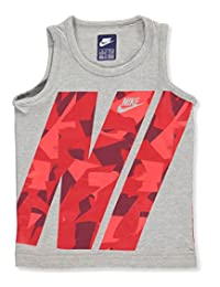 Nike Little Boys' Tank Top (Sizes 4 - 7) - dark heather gray, 5