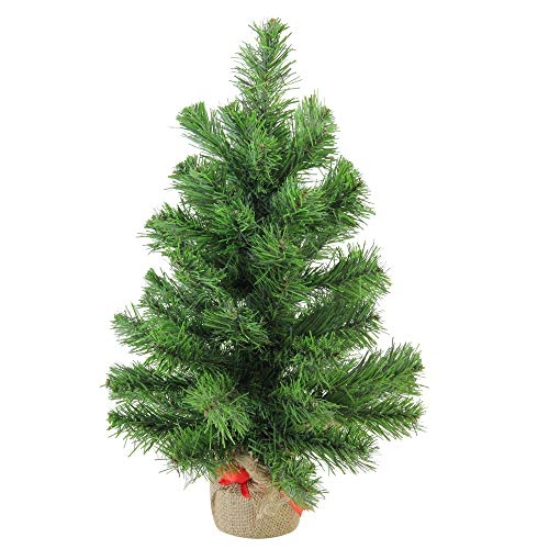 Northlight Pine Artificial Christmas Tree in Burlap Base, 18