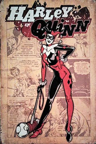 Pish Posh Llc Vintage Tin Sign Decor, Harley Quinn
