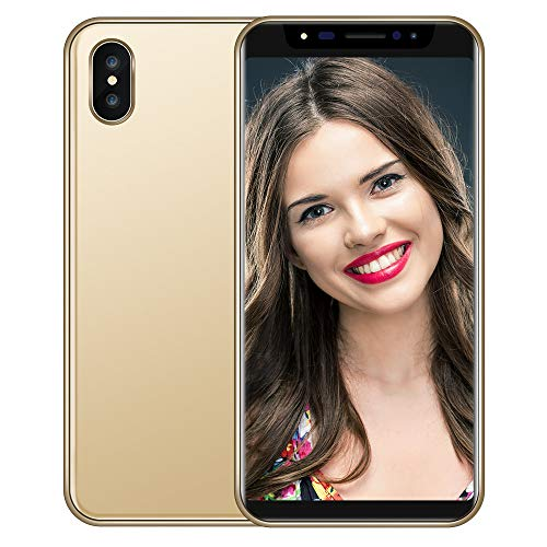 Highpot Full Screen Unlocked Smartphone 5.8 inch,Dual SIM Quad-Core 1GB+4GB+Extra 16GB Android 6.0 Cell Phones (Gold)