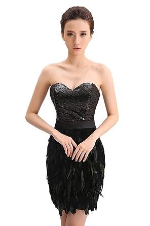 Black Wedding Dress for Women Short