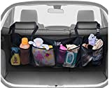 Trunk Organizer for Car and SUV - Keep Your Trunk Tidy And Organized With Ease - Space Saving Cargo Net Design With 4 Large Pockets - Lightweight, Easy To Install Organizers - Fits Most Vehicles