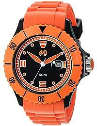 Men's Quartz Plastic and Silicone Casual Watch, Color:Orange (Model: 40NINE01/ORANGE20)