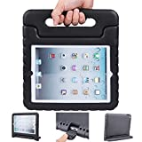 iPad air 2 case, ipad 6 case, ANTS TECH Light Weight [ Shockproof ] Cases Cover with Handle Stand for Kids Children for iPad air 2 (6) (iPad Air 2 (6), Black)