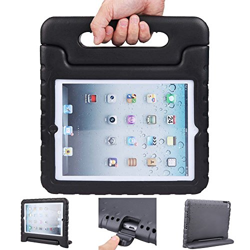 iPad mini case, ANTS TECH Light Weight [ Shockproof ] Cases Cover with Handle Stand for Kids Children for iPad mini 3 & iPad mini 2 & iPad mini (iPad Mini 123, Black)