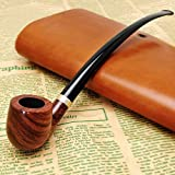 Scotte(TM) Handcraft ebony tobacco pipe Carve patterns filter smoking pipe with several accessories