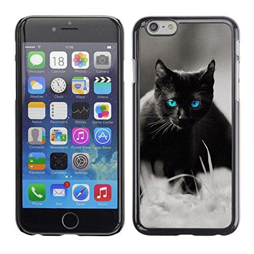 TaiTech / Case Cover Housse Coque étui - Cute Black Cat Siamese White Pet Kitten - Apple iPhone 6