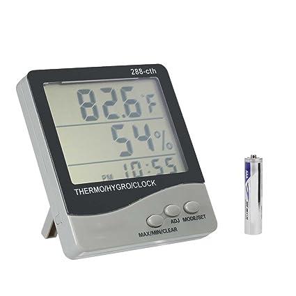 Laileya 288-CTH estación meteorológica Termómetro digital LCD higrómetro electrónico de temperatura Medidor de humedad