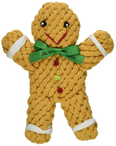 arma Holiday Rope Dog Toy, 6-Inch, George The Gingerbread ()