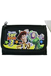 Black Toy Story Trifold Wallet