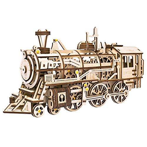[해외]Robotime 3D 입체 퍼즐 나무 레이저 커팅 장비 소형 (이동성) / Robotime 3D Stereoscopic Puzzle Wooden Laser Cut Gear Miniature (Locomotive)