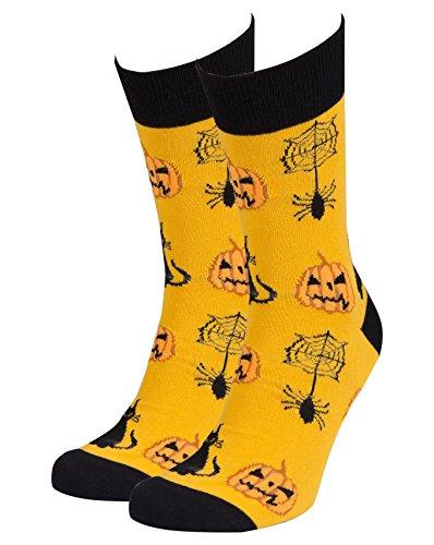 Socks n Socks-Men's Luxury Cotton Colorful Funny Cool Halloween Socks Gift Box -