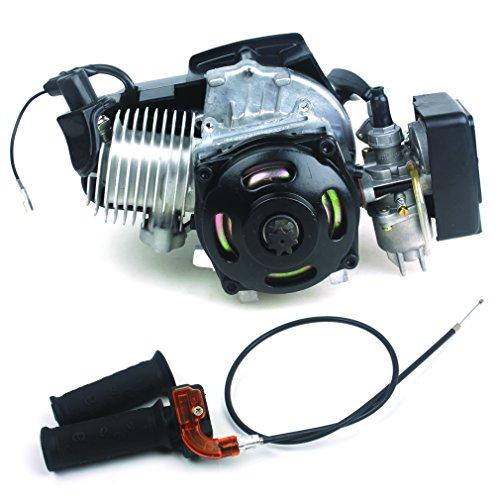 47CC 2-stroke Engine + Handle Bar+ Throttle Cable Motor Pocket Mini Bike Scooter ATV 7T 25H Chain 40MM Bore
