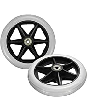 GGGarden 150x35mm Front Rear Wheels Replacement Parts for Cardinal Rollator Walker C46