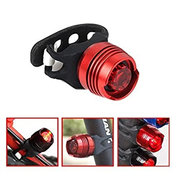 Bicicleta Lámpara de cola bicicleta casco rojo LED tres modos impermeable Luz trasera Luz de seguridad