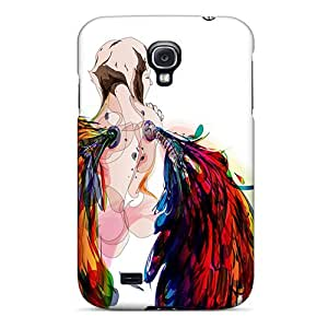 PortableLife Snap On Hard Case Cover Rainbow Angel Protector For Galaxy S4