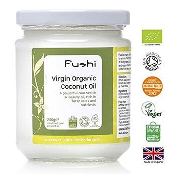 Fushi Organic Virgin Coconut Oil Raw - 250g: Amazon com