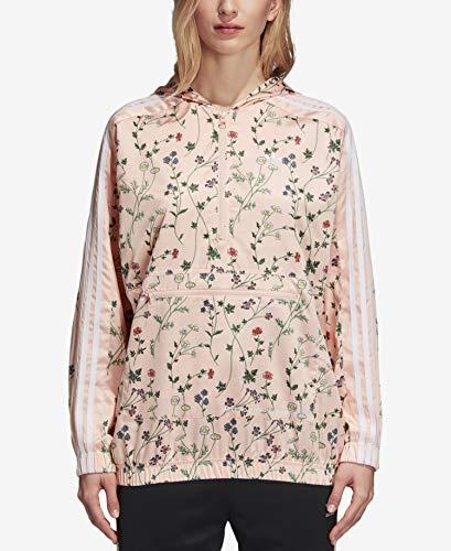 - adidas Women Originals Hooded Windbreaker (M) Blush Pink