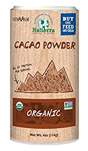 Natierra, Himalania Organic Cacao Powder, Shaker, 4 Ounce