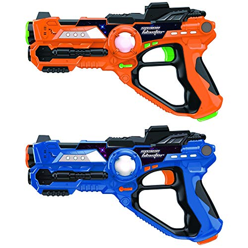 coil Laser Tag Lasers Gun Toy Gun Set 2-Player Space Blaster Toys for Boy Gift Laser Tag Sets with Gun Games ()