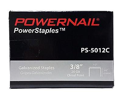 """Powernail 20ga. Chisel Point Staple, 1/2""""crown x 3/8""""leg. (Box of 5000)"""