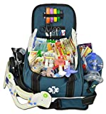 Lightning X Deluxe Stocked Large EMT First Aid Trauma Bag Fill Kit w/ Emergency Medical Supplies (Navy Blue)
