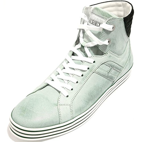 90286 sneaker HOGAN REBEL HI-TOP BASKET scarpa uomo shoes men Verde