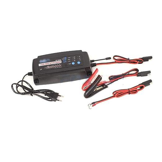 CONRAL Cargador batería 12V 2/4/8A, Cargador batería ...