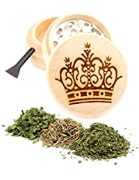 Want Crown Engraved Premium Natural Wooden Grinder Item # PW91316-36 dispense