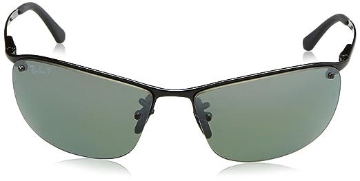 285a08bdeb Amazon.com  Ray-Ban RB3542 Chromance Lens Wrap Sunglasses