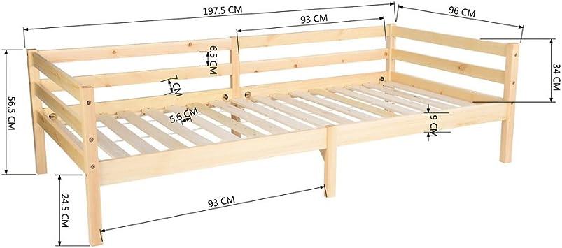 Fanilife Cadre de lit Simple en Bois Chambre dinvit/é Canap/é lit Daybeds pour Le Salon