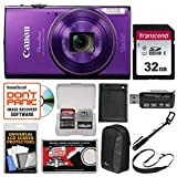 Canon PowerShot Elph 360 HS Wi-Fi Digital Camera (Purple) with 32GB Card +
