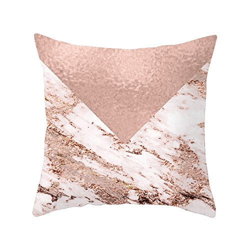 Fitted Thomasville Sheet (Pillow Decorative Standard King Size Printed Pillowcase, 45cm x 45cm, Pink and White)