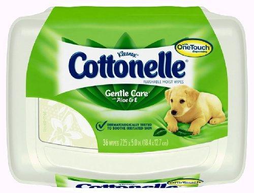 Kleenex Cottonelle Gentle Care Flushable Moist Wipes - 36 CT - Kleenex Cottonelle Wipes