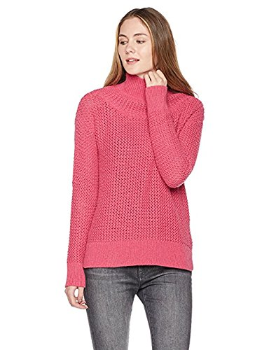 Rayon Women Sweatshirt (True Angel Women's Turtle Neck Long Sleeve Pullover S Pink)