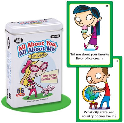 Super Duper Publications All About You, All About Me Social Skills Fun Deck Flash Cards Educational Learning Resource for Children by Super Duper Publications