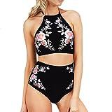 Software : Sexy Fashion AIMTOPPY Women Push-Up Padded Bra Beach Bikini Set Swimsuit Sexy Printing Swimwear (Black, L)