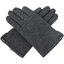 CACUSS Outdoors Gloves for Men Wool Winter Gloves Bike Gloves Finger Snow Knit Gloves Warm Knitted Gloves