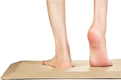 and Back Pain Anti Fatigue Comfort Floor Mat by Sky Mats -Commercial Grade Quality Perfect for Standup Desks Kitchens and Garages 20x32x3//4-Inch, Beige Relieves Foot Knee
