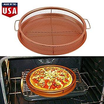Amazon.com: Bandeja redonda para pizza antiadherente para ...