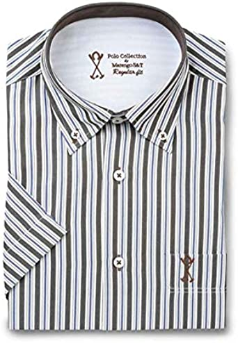 Camisa de Hombre Manga Corta, con Rayas Verticales de Color ...