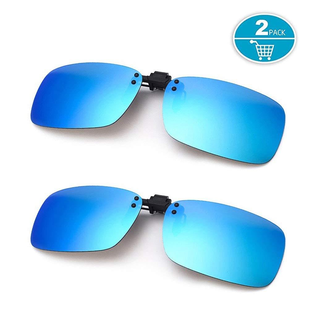 Splaks Clip en Gafas de Sol, 2 Azul, polarizadas, sin ...