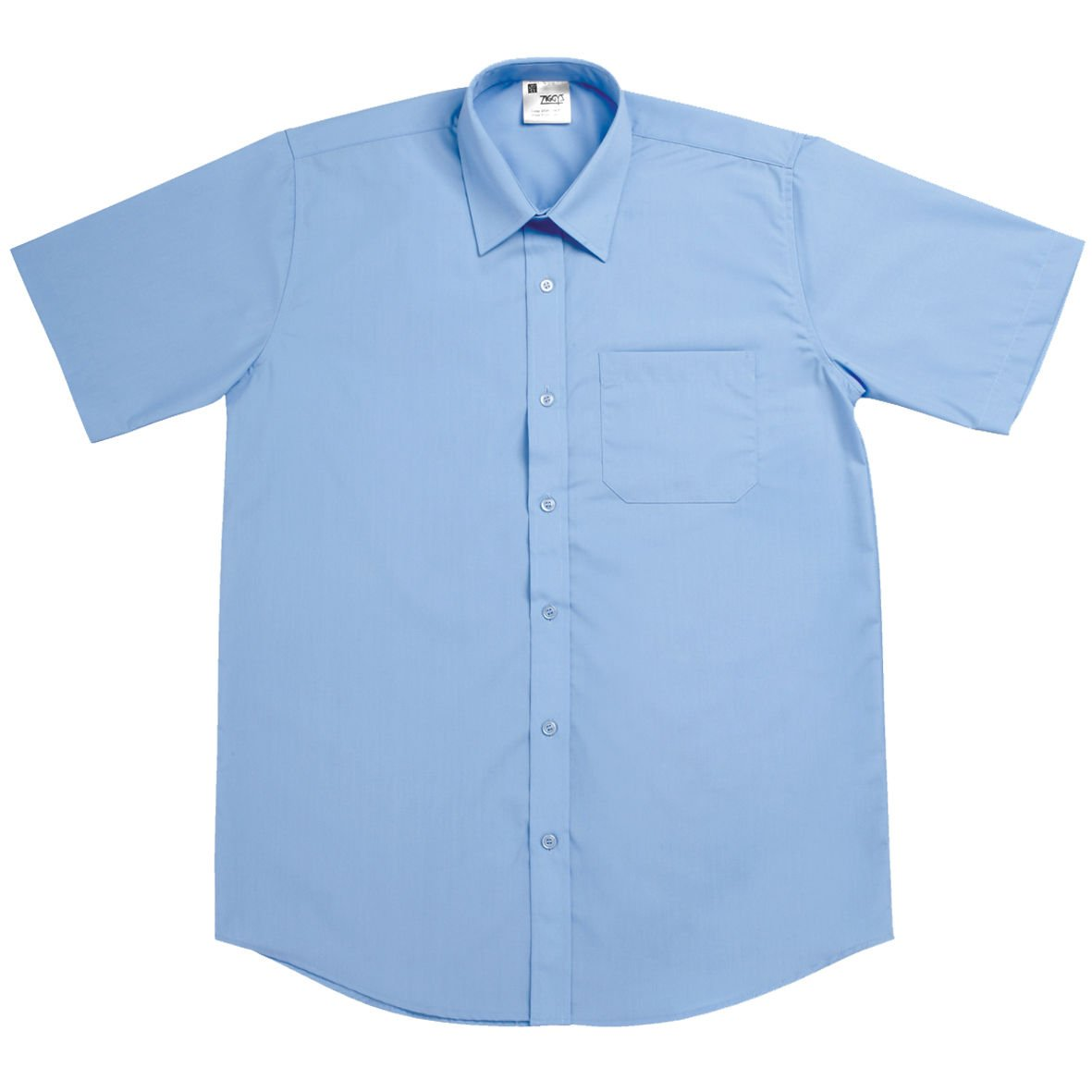 Boys blue short sleeved shirt (TWIN PACK)