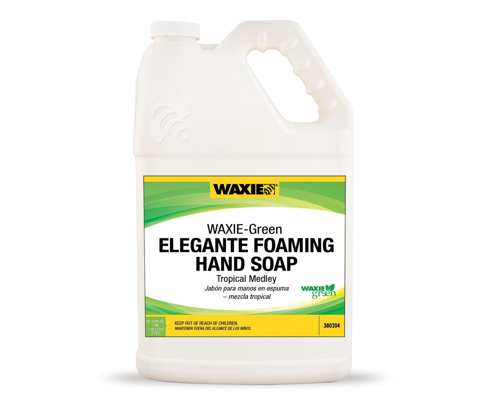 WAXIE-Green Elegante! Foaming Hand Soap Refill, Tropical Scent, 1 Gallon (Case of 4)