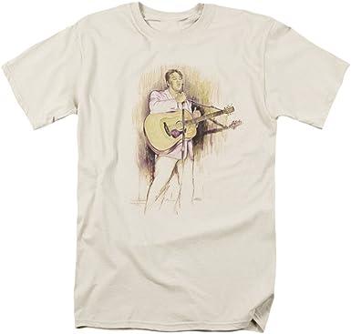 ELVIS PRESLEY Singer Rock Music Icon Elvis Crooning Camiseta ...