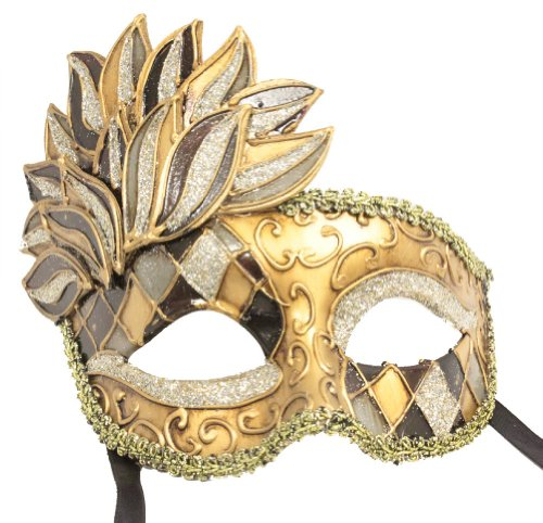 Mardi Gras Masks Cheap (RedSkyTrader Mens Vintage Style Mardi Gras Mask One Size Fits Most Multicoloured)