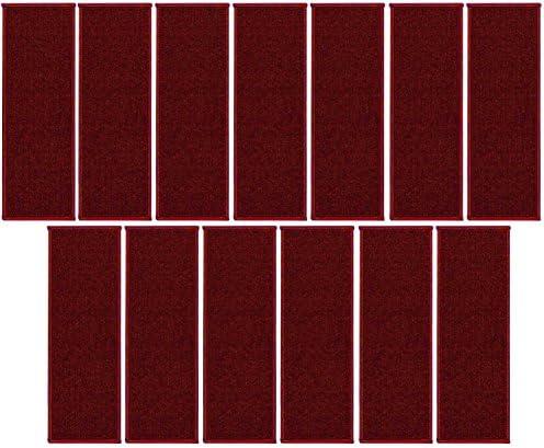 Indoor Outdoor Stair Threads Red 9″ x 36″ Set of 13