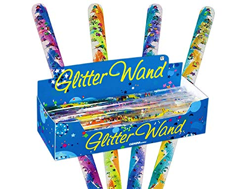 Toysmith Jumbo Spiral Glitter Wands (12.5 Inches) Gift Set Party Bundle - 3 Pack -