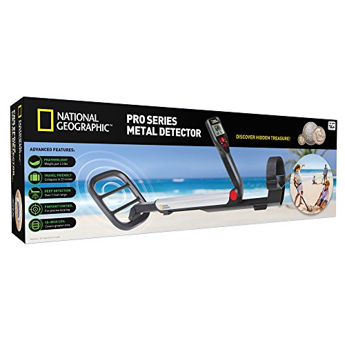"51OzOCbBKgL - NATIONAL GEOGRAPHIC PRO Series Metal Detector - Ultimate Treasure Hunter with Pinpointer, Large Waterproof 10"" Coil - Lightweight and Collapsible for easy travel"